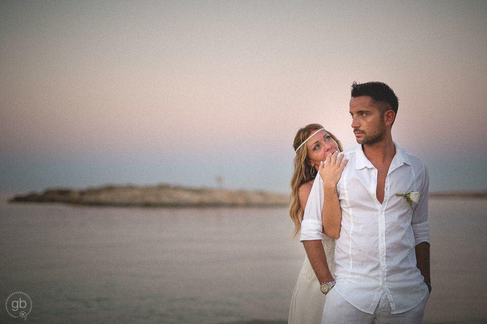 Ritratto di coppia spiaggia Formentera